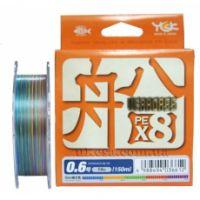 Шнур плетеный YGK Veragass PE x8 150m (#0.6/max 14 lb)
