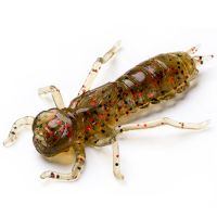 "Приманка FISHUP Dragonfly 1.5"" (8pcs.), #045 - Green Pumpkin/Red & Black"